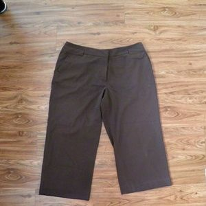 Cato Brown Crop Pants Size 16